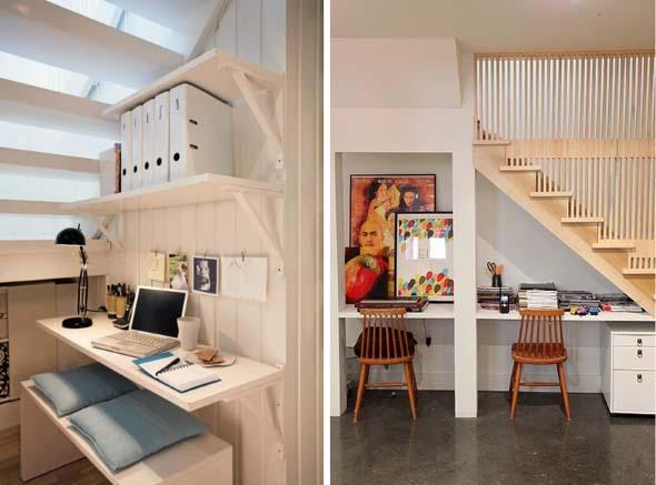 Ideias para aproveitar o vão da escada 013