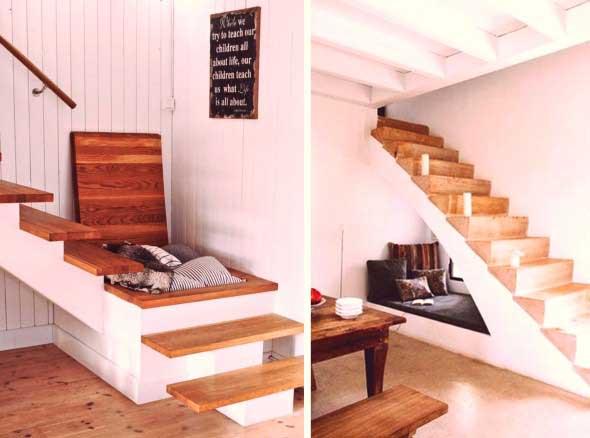 Ideias para aproveitar o vão da escada 015