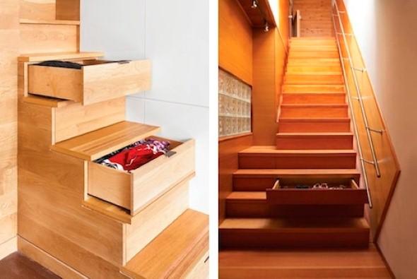 Ideias para aproveitar o vão da escada 017