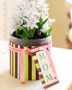 Vasos decorados para o Dia das Mães 001