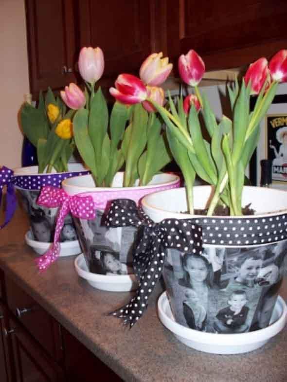Vasos decorados para o Dia das Mães 002