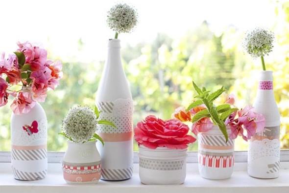 Vasos decorados para o Dia das Mães 003