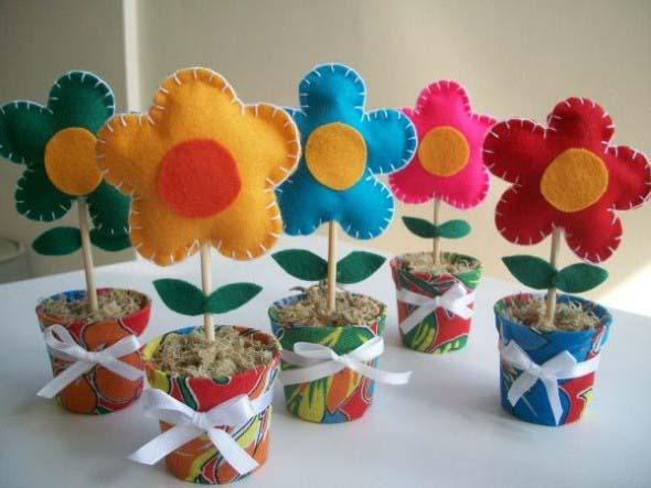 Vasos decorados para o Dia das Mães 005