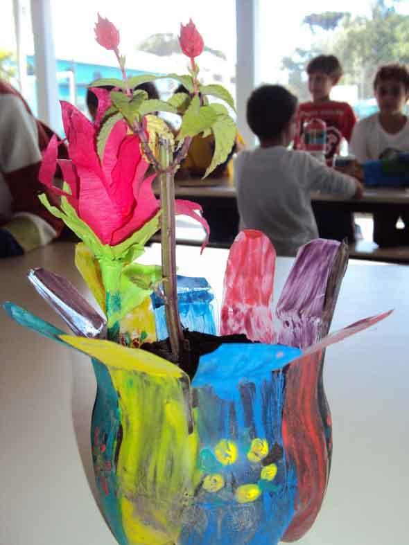 Vasos decorados para o Dia das Mães 013