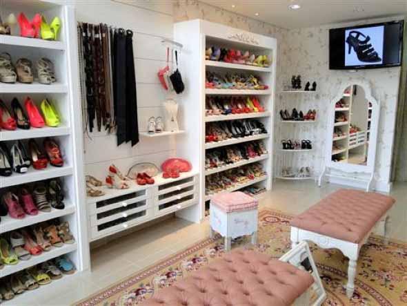 Como decorar loja de calçado 001