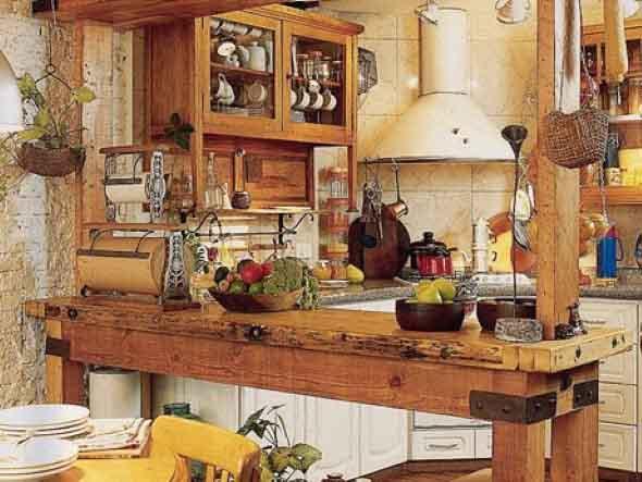 Decoração rústica na cozinha 001