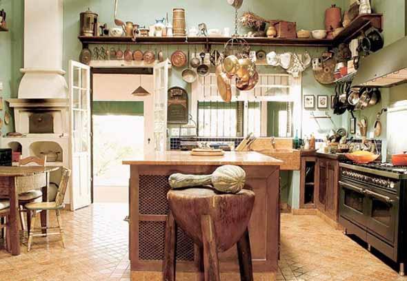 Decoração rústica na cozinha 007
