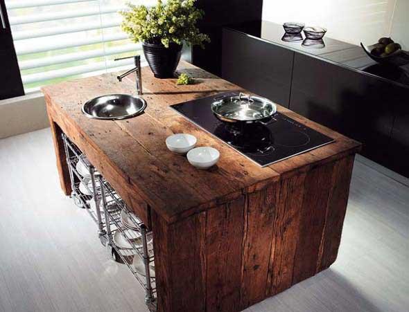 Decoração rústica na cozinha 012
