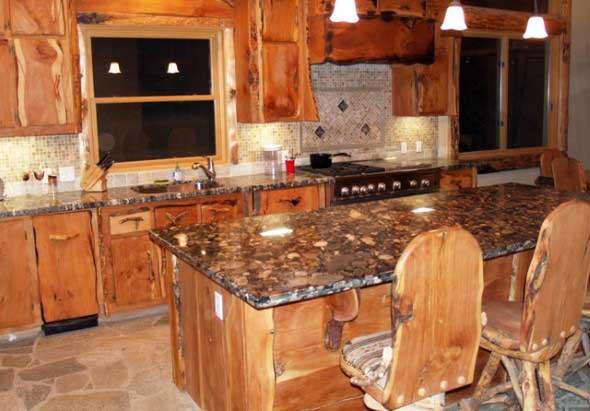 Decoração rústica na cozinha 015