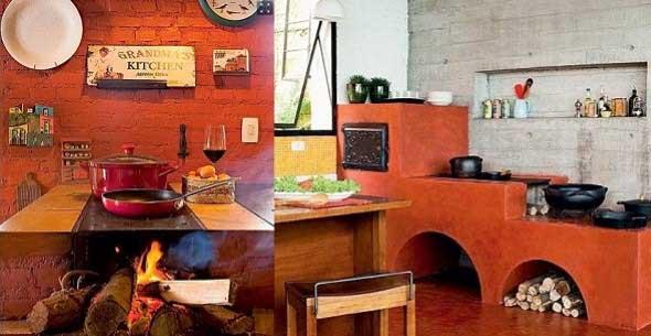 Decoração rústica na cozinha 017