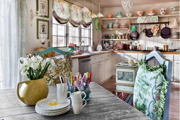 Decoração rústica na cozinha 018