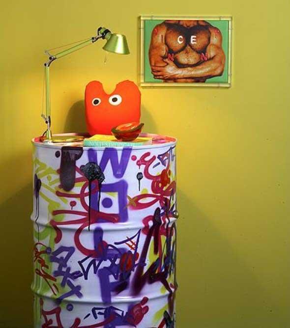 Barril na decoração da casa 015
