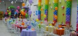 Decoração de festa para o Dia das Crianças
