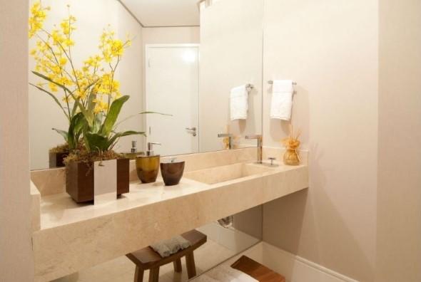 Organizando o banheiro com cachepôs 003