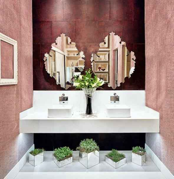 Organizando o banheiro com cachepôs 004