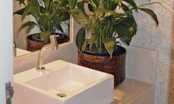 Organizando o banheiro com cachepôs 010