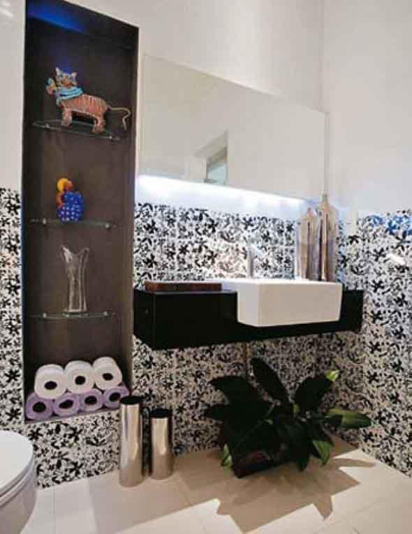 Organizando o banheiro com cachepôs 011