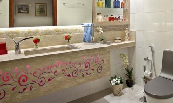 Organizando o banheiro com cachepôs 012