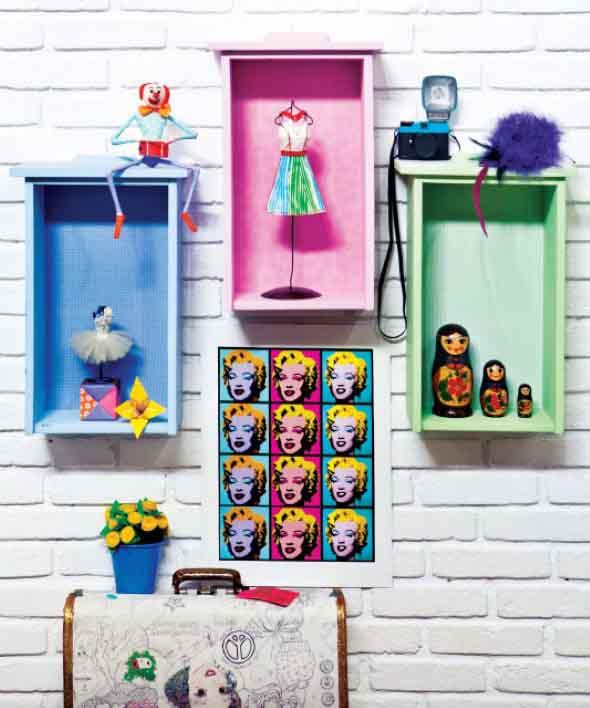 Usar gavetas como nichos decorativos 003