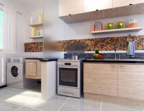 Área de serviço na cozinha 008