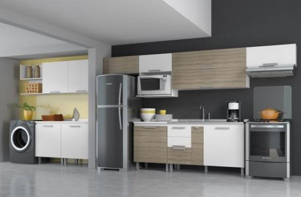 Área de serviço na cozinha 017