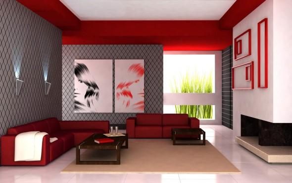 Decorar a sala de estar com quadros 002