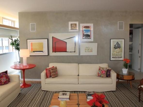 Decorar a sala de estar com quadros 003