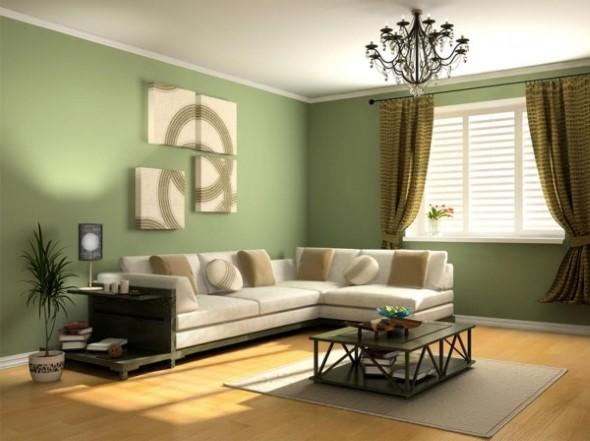 Decorar a sala de estar com quadros 006