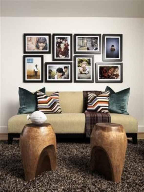 Decorar a sala de estar com quadros 011