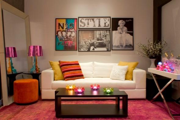 Decorar a sala de estar com quadros 012