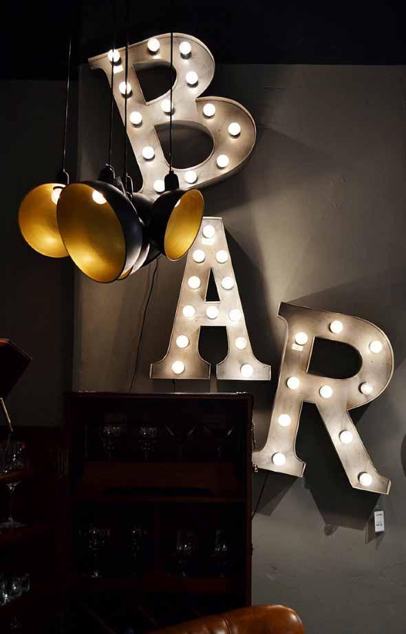 Letreiro luminoso para decoração 002