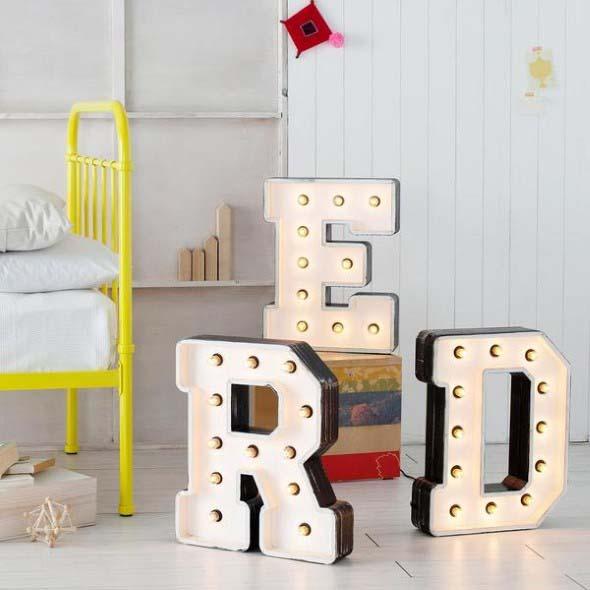 Letreiro luminoso para decoração 014
