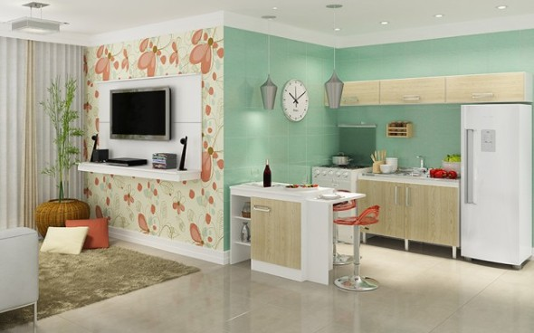 Sala e cozinha conjugadas 006