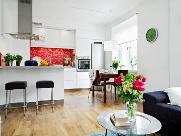 Sala e cozinha conjugadas 007