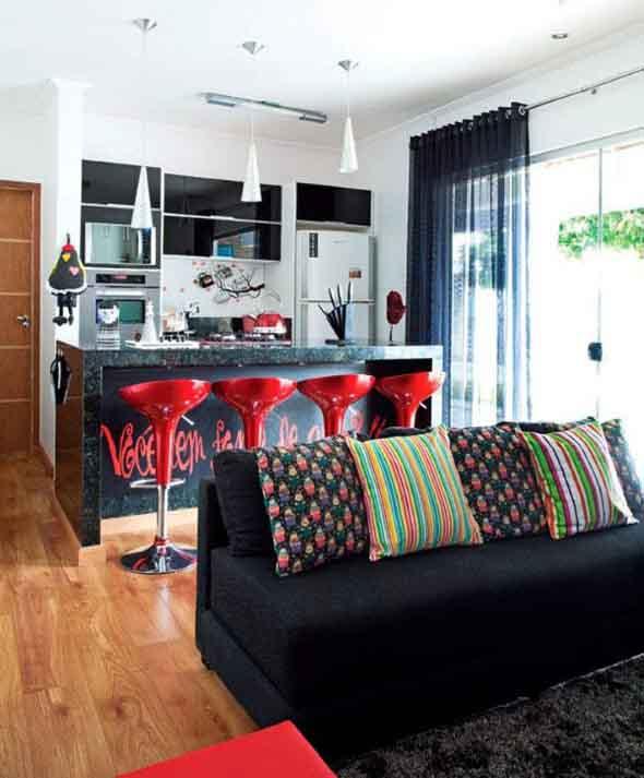 Sala e cozinha conjugadas 011