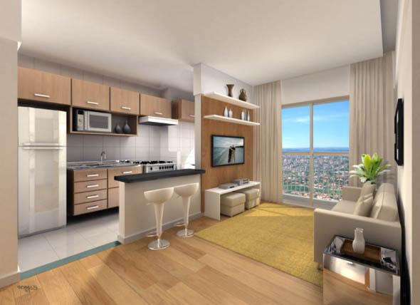 Sala e cozinha conjugadas 012