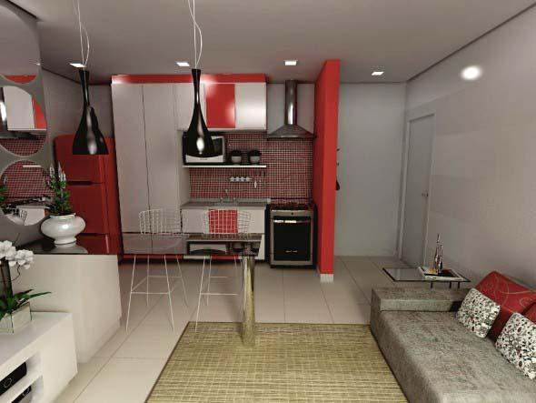 Sala e cozinha conjugadas 013