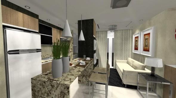 Sala e cozinha conjugadas 014