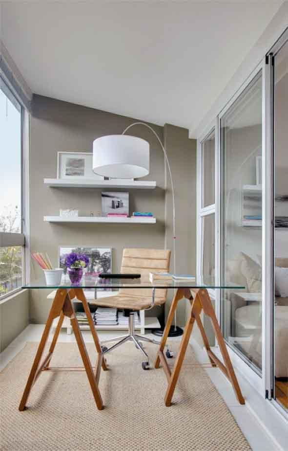 Como transformar a varanda em um escritório 001