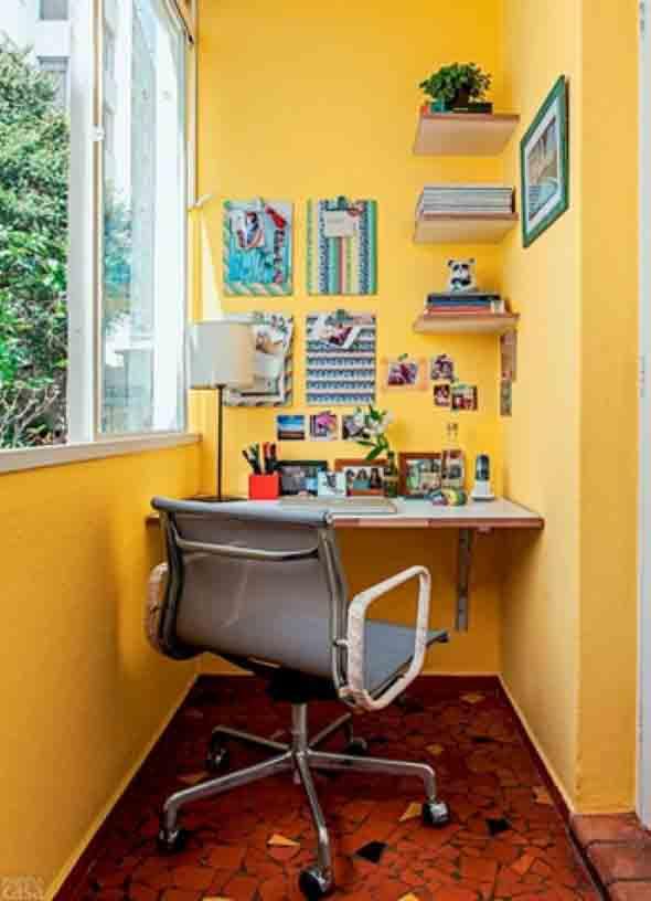 16 ideias para transformar a varanda em um escritório