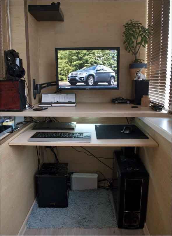 Como transformar a varanda em um escritório 012