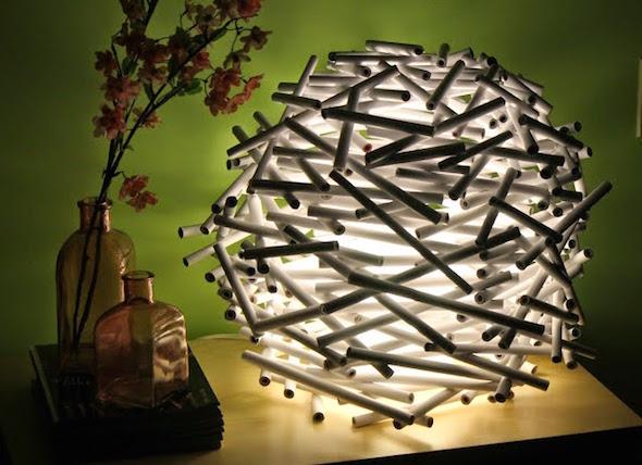 luminaria canudo