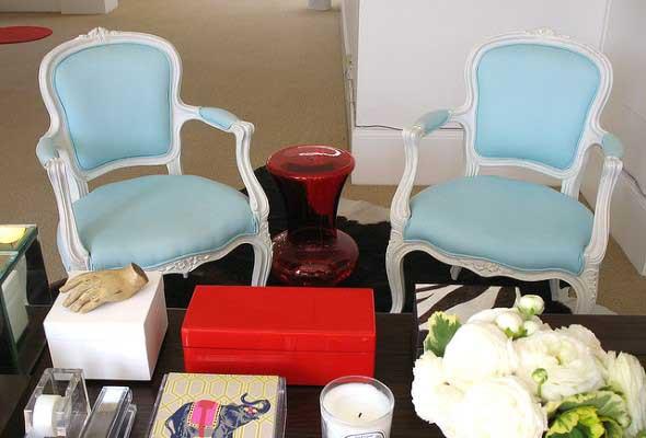 Cadeiras para decorar a sala 004