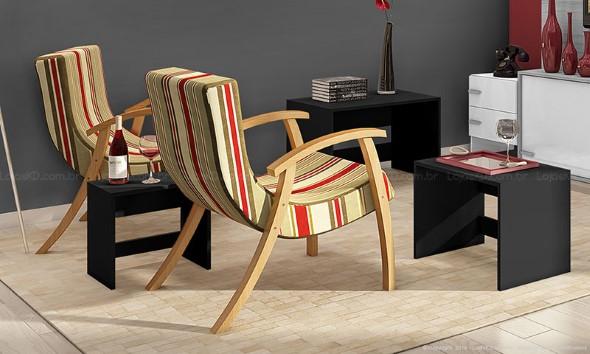 Cadeiras para decorar a sala 016