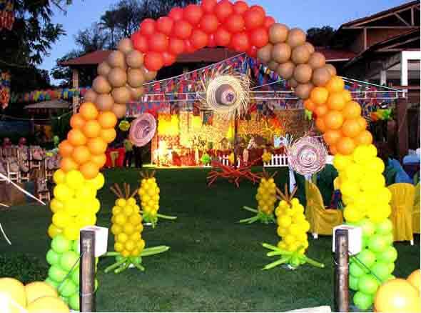 Decoração para festa junina no sítio 015