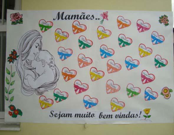 Decoração para o Dia das Mães em escola 011