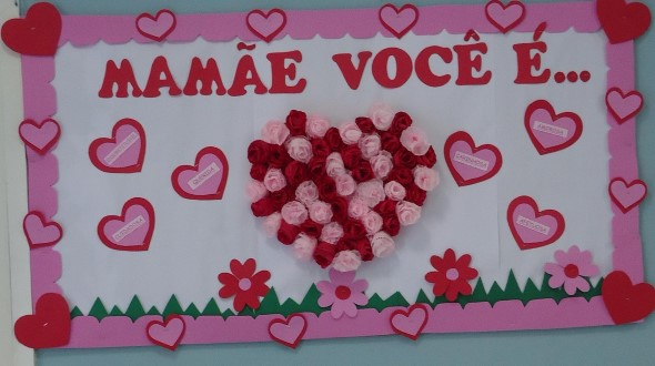 Decoração para o Dia das Mães em escola 012