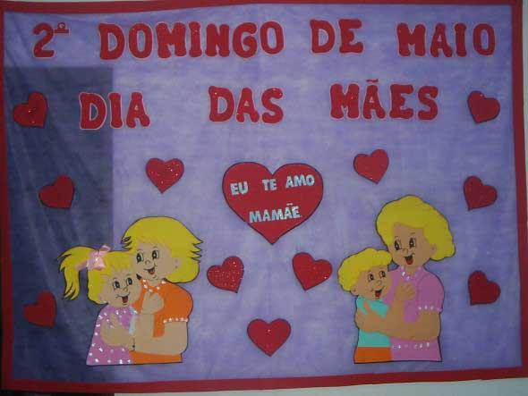 Decoração para o Dia das Mães em escola 015