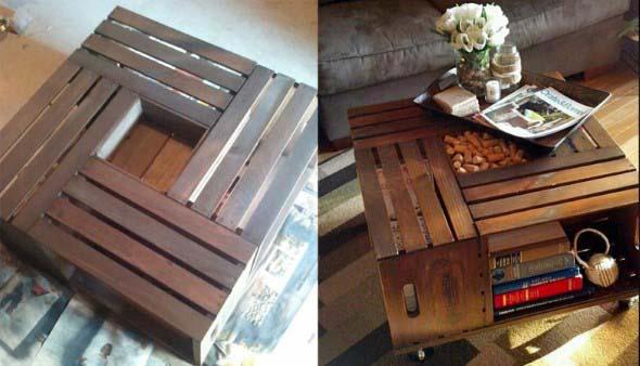Ideias charmosas de decoração com caixotes de feira 003