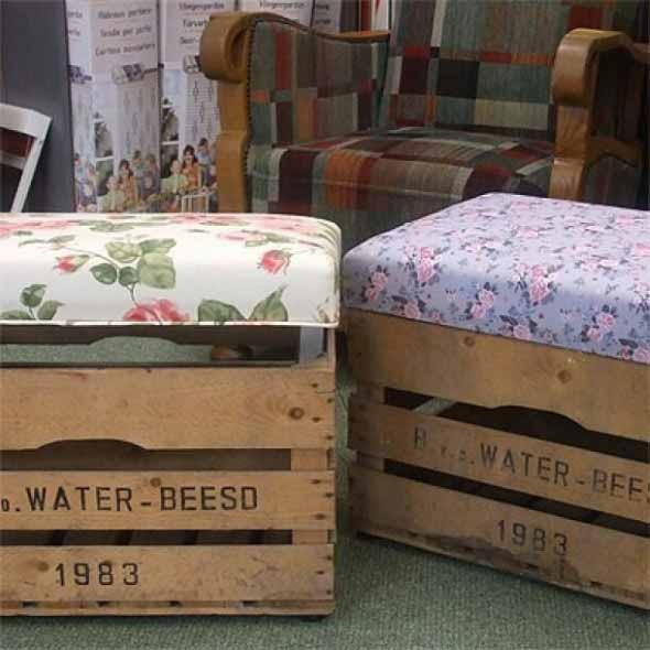 Ideias charmosas de decoração com caixotes de feira 005